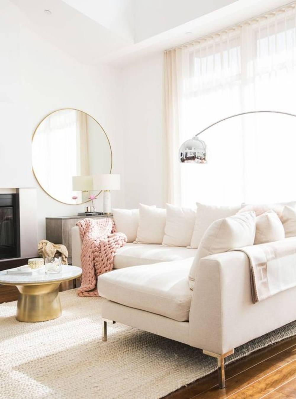 Sheer curtain living area