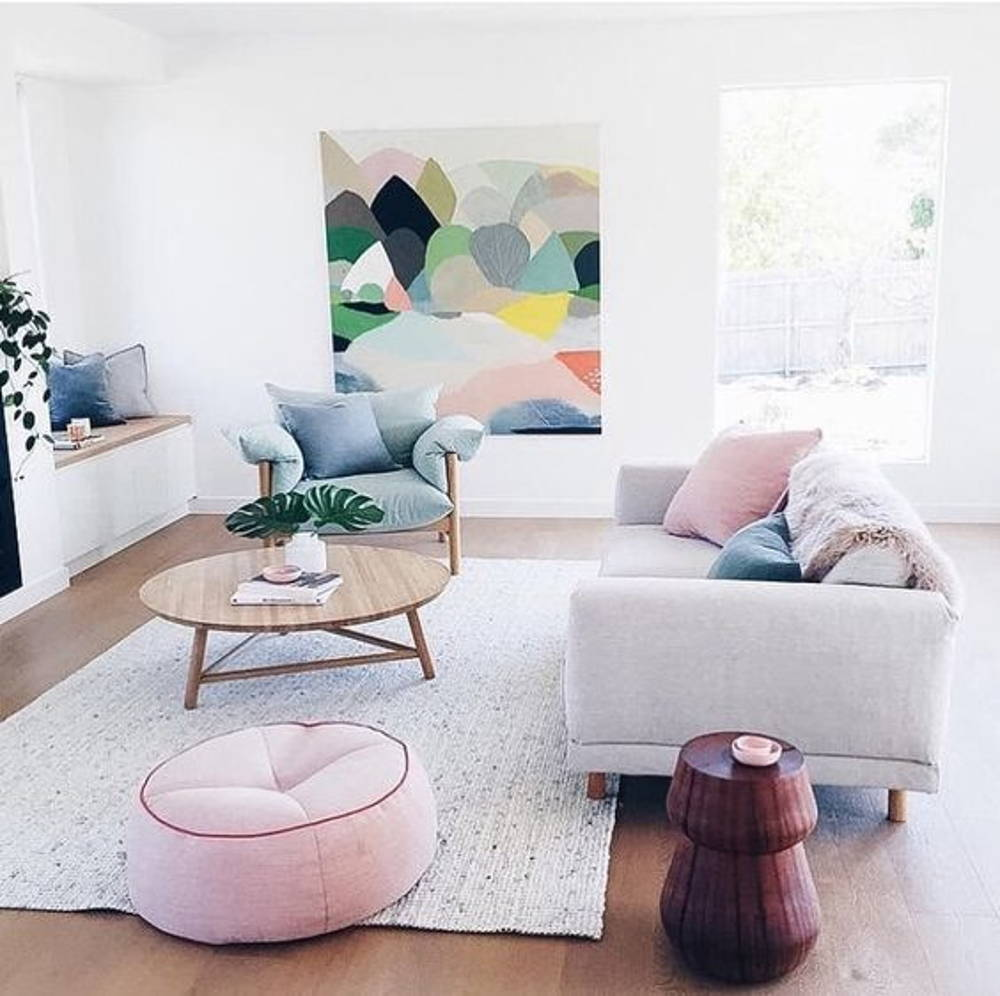Pastel living area
