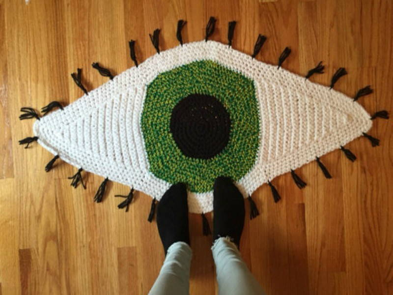 crochet eye rug etsy