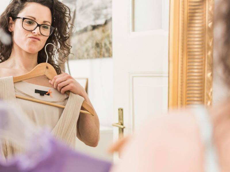 woman mirror clothes