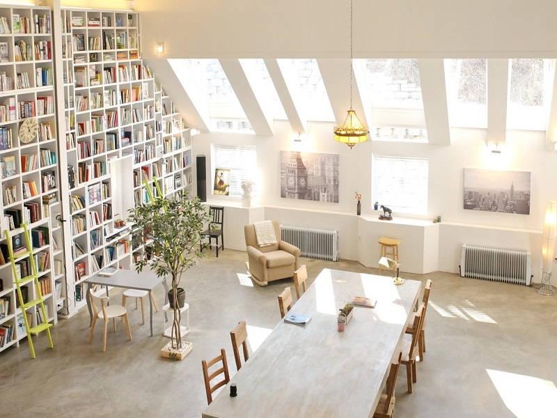 giant bookshelf