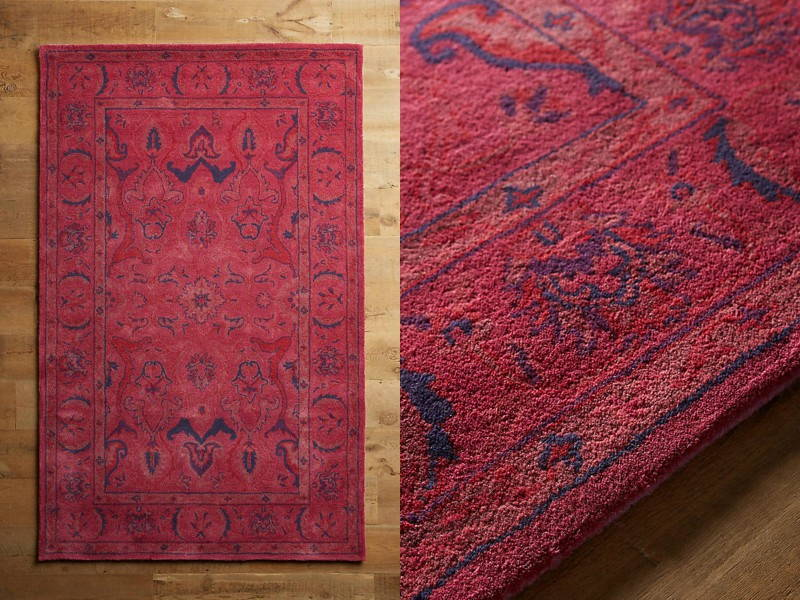tufted red rug