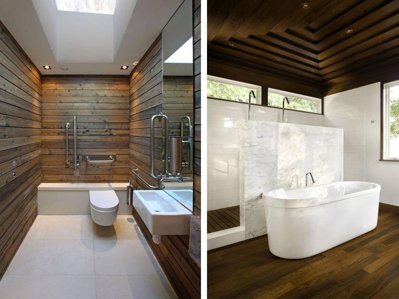 Wooden beam bath