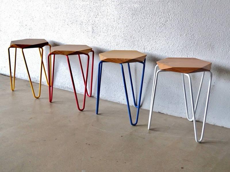 Pin leg stools