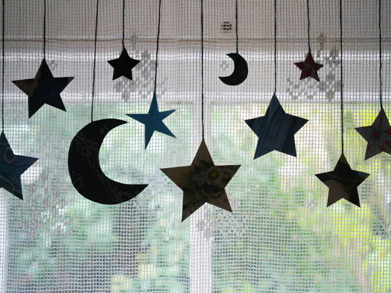 stars and moon decor