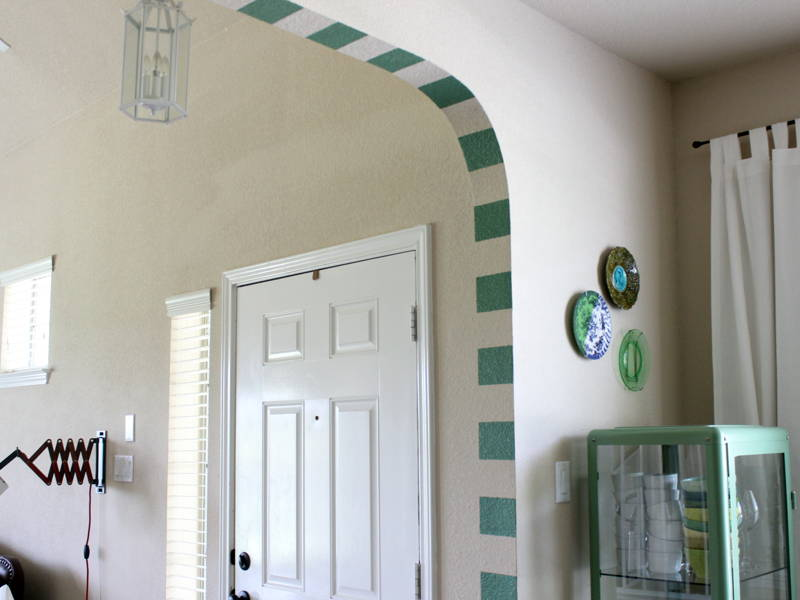 Painted arch home