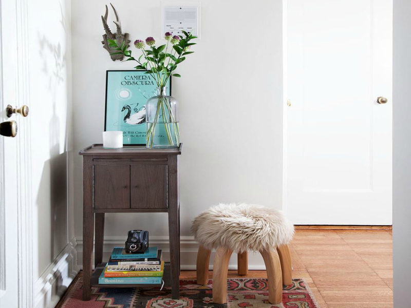 small entryway stool