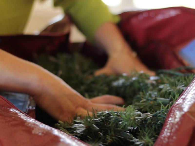 storing christmas tree