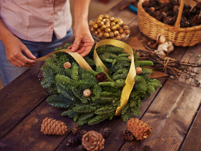 Christmas garden wreath