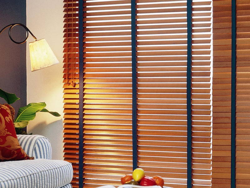 Faux wood shades