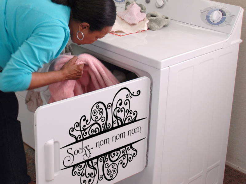 washing machine sticker
