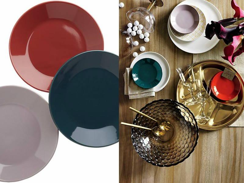 ceramic red plates