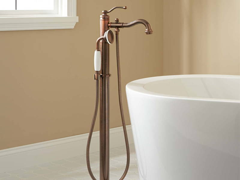 bronze faucet bathroom