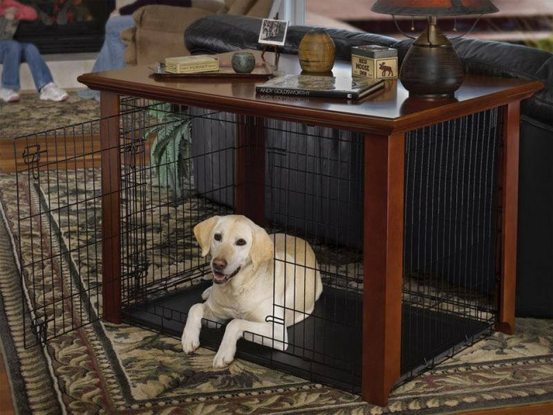 dog kennel console table