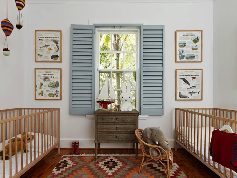 shutters nursery interior