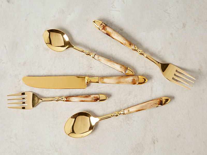 gold cutlery anthropologie