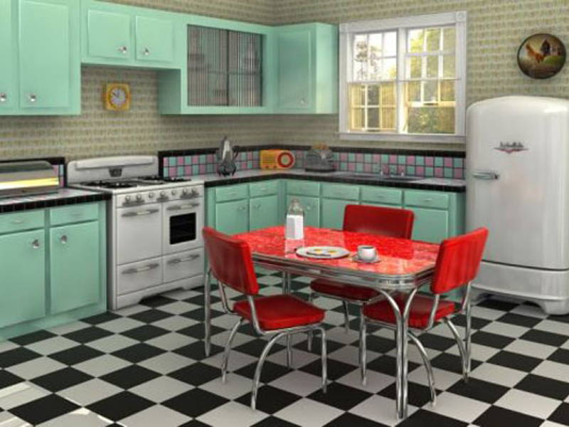 home interior retro 50's