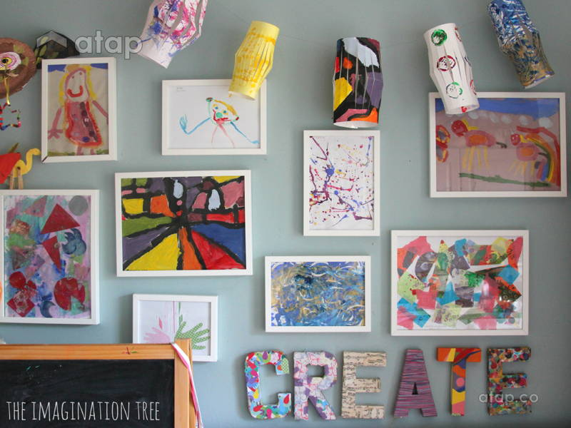 Display Your Kids' Art Without Hurting Your Home Décor (or Their Feelings)