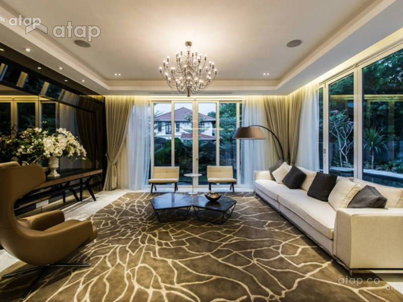 17 bungalows in malaysia which epitomise modern luxury for Modern living room malaysia