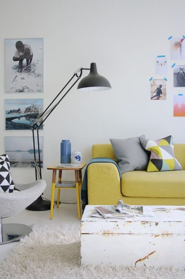 Floor lamp living area