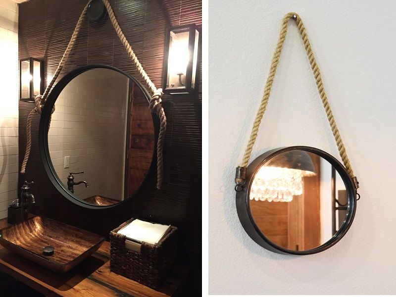 nautical rope mirrors