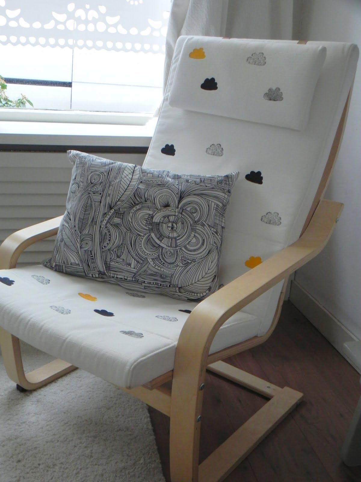 ikea armchair painted cushion