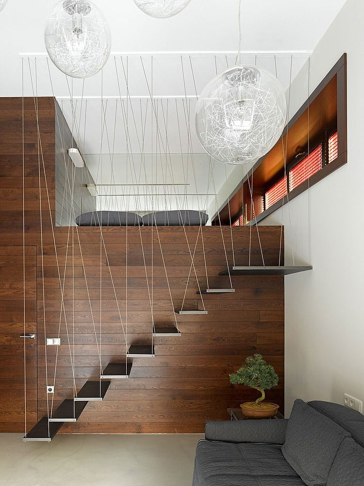 floating home stairs