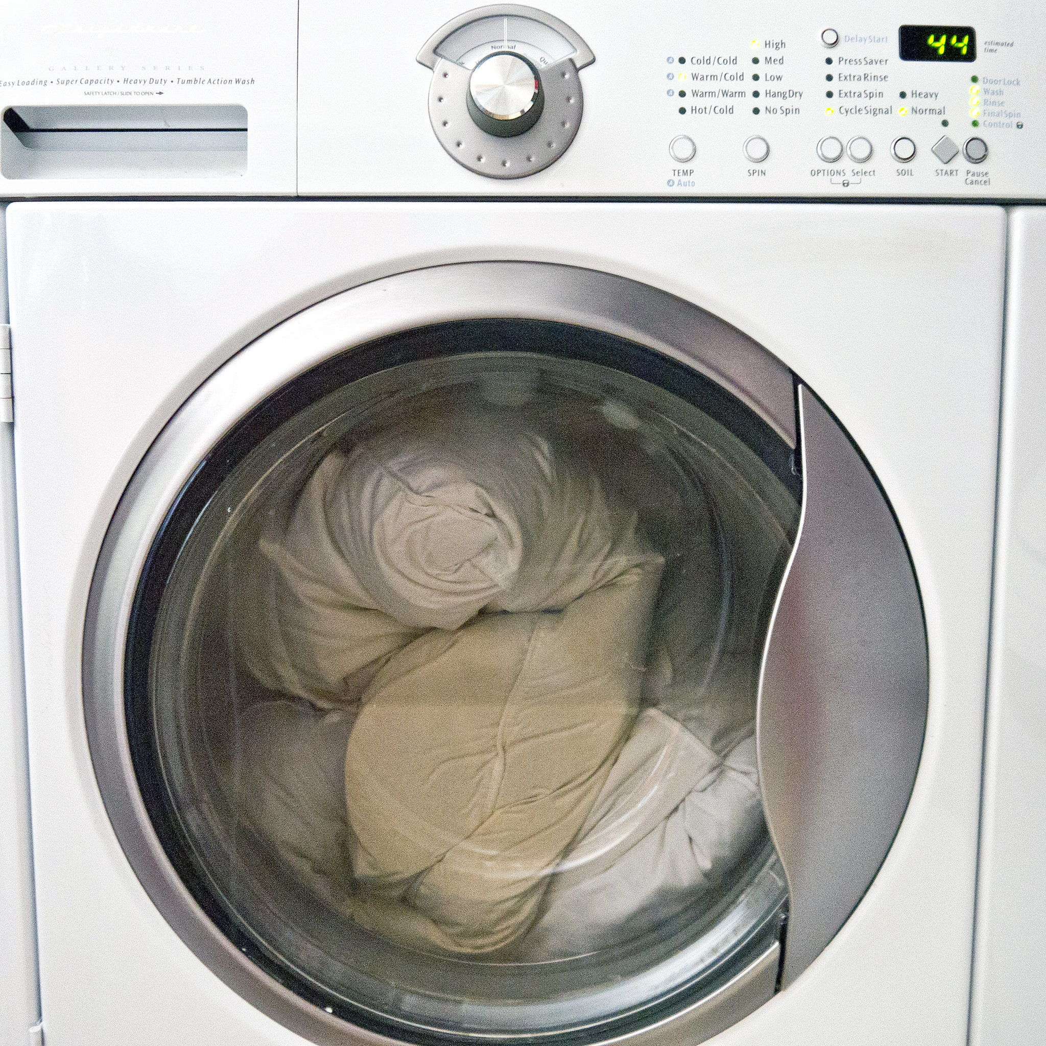 Washing machine pillow