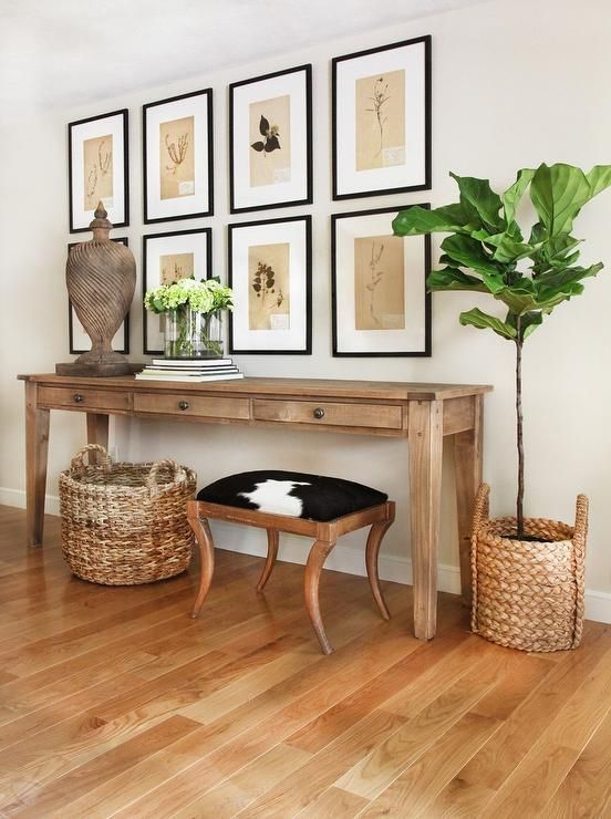 large entryway table