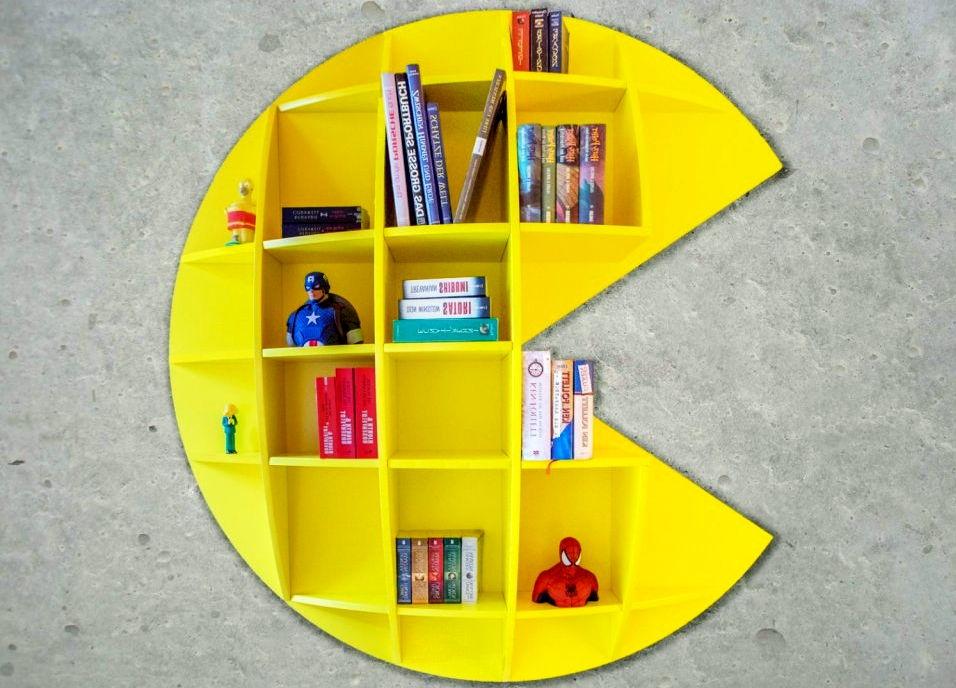 pacman bookshelf