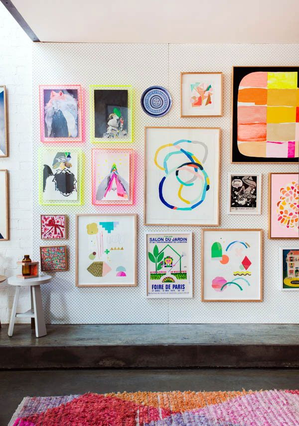 children's art wall gallery