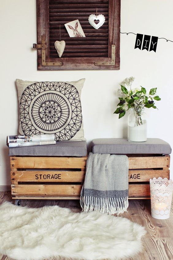 Crate seating balcony