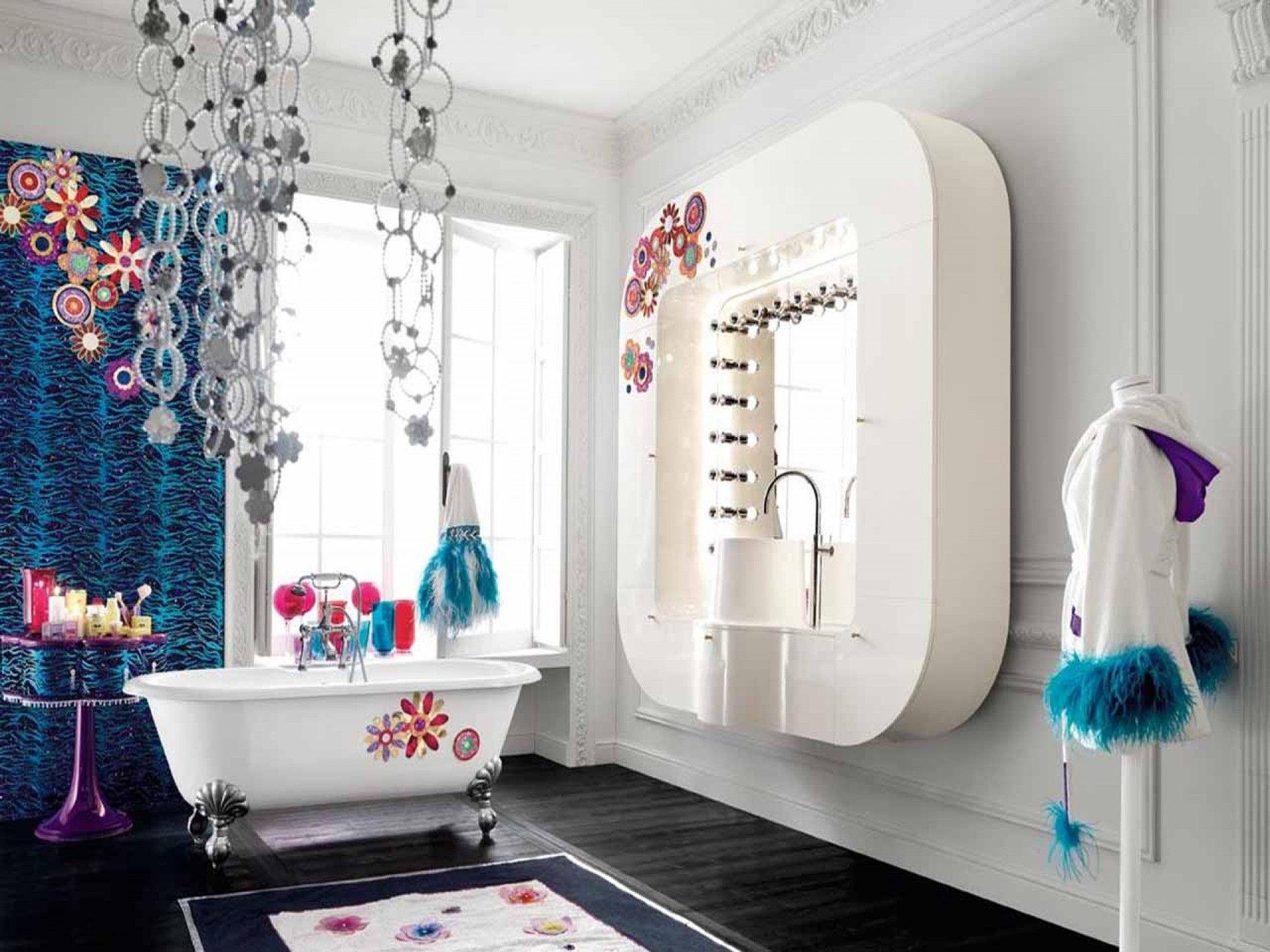 colourful bathroom