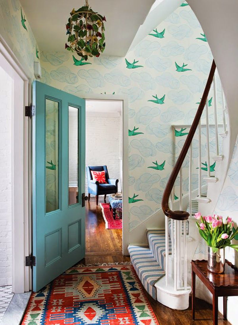 hallway pattern wallpaper