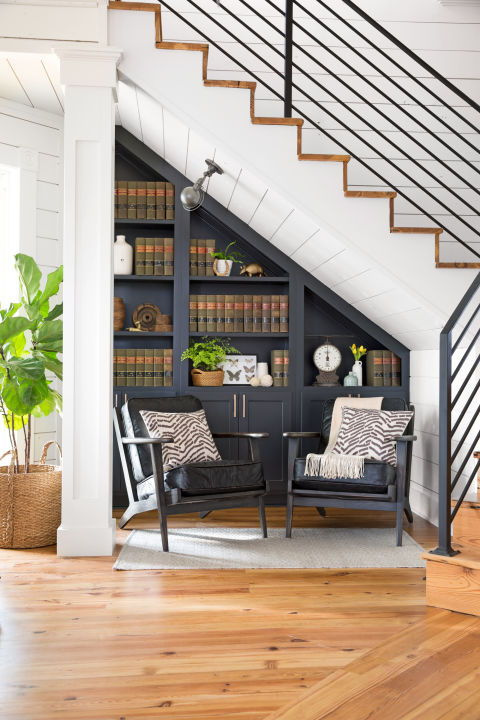 staircase book nook