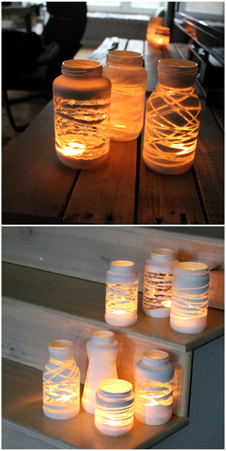 Candle lamp diy