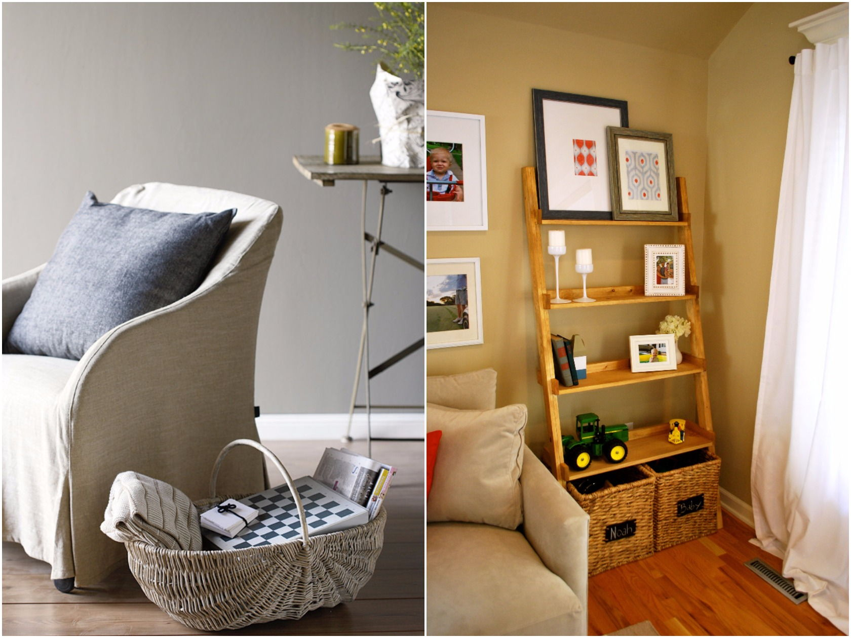 living room basket