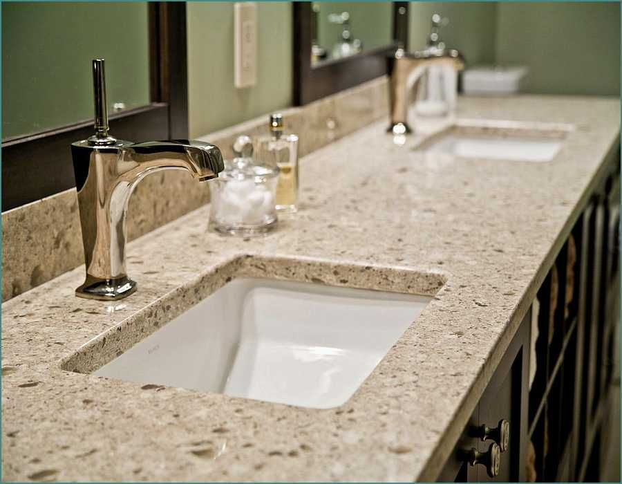 marble quartz bathroom counter