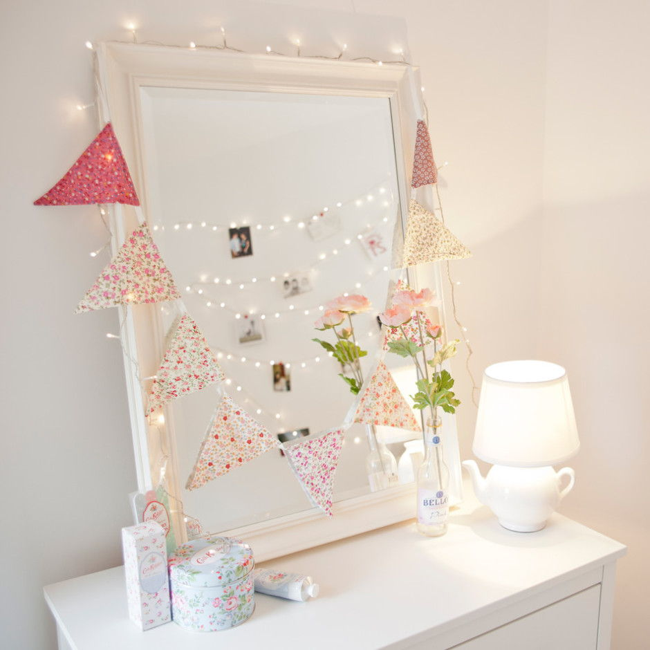 fairy lights vanity mirror
