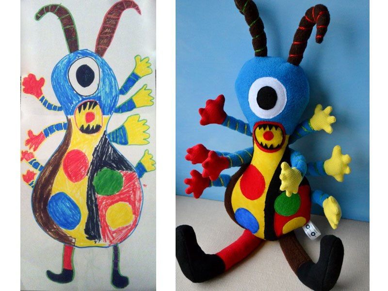 children's art stuffed toy