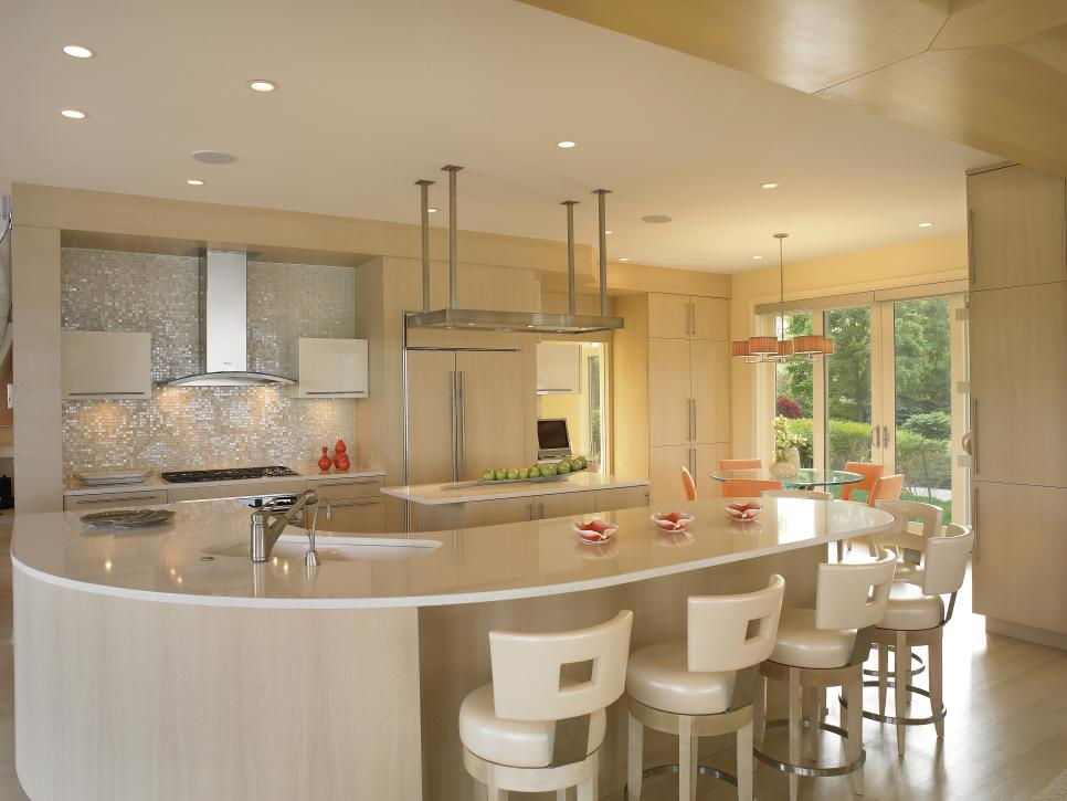 modern kitchen counter