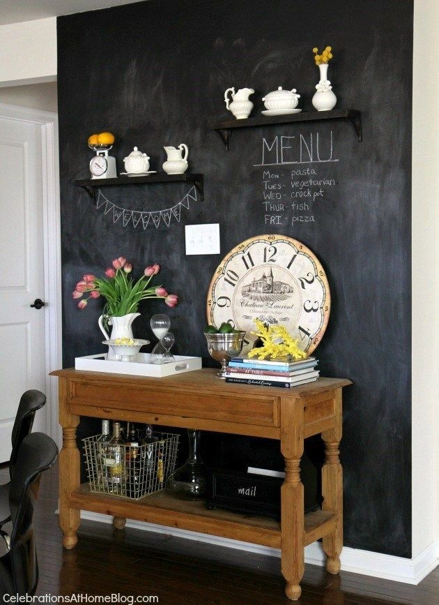 Chalkboard wall home