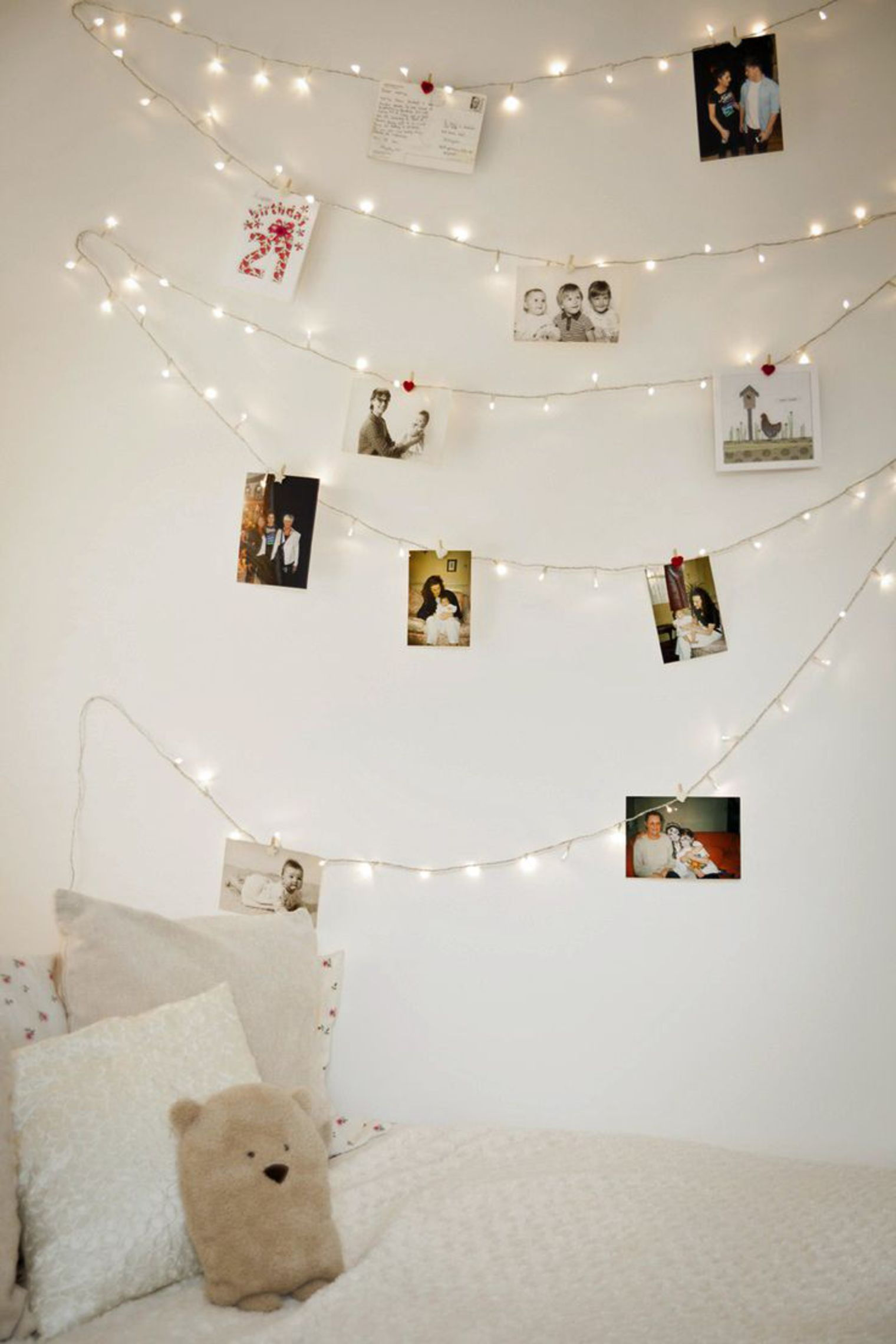 fairy lights polaroids