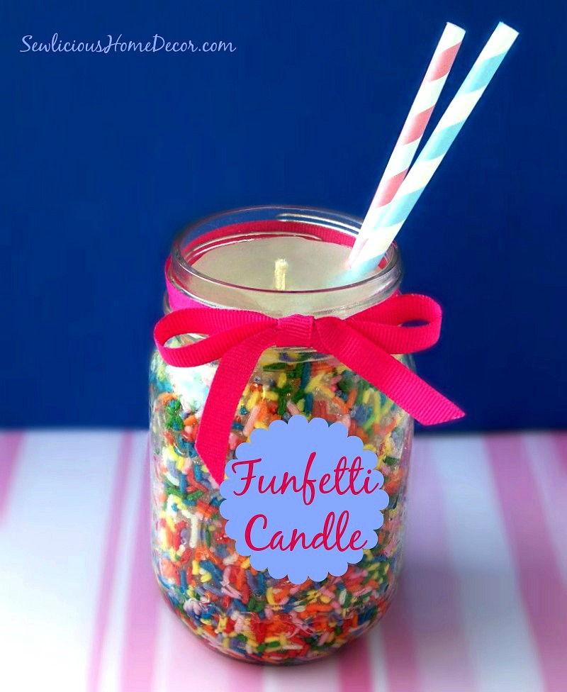 DIY Funfetti candle