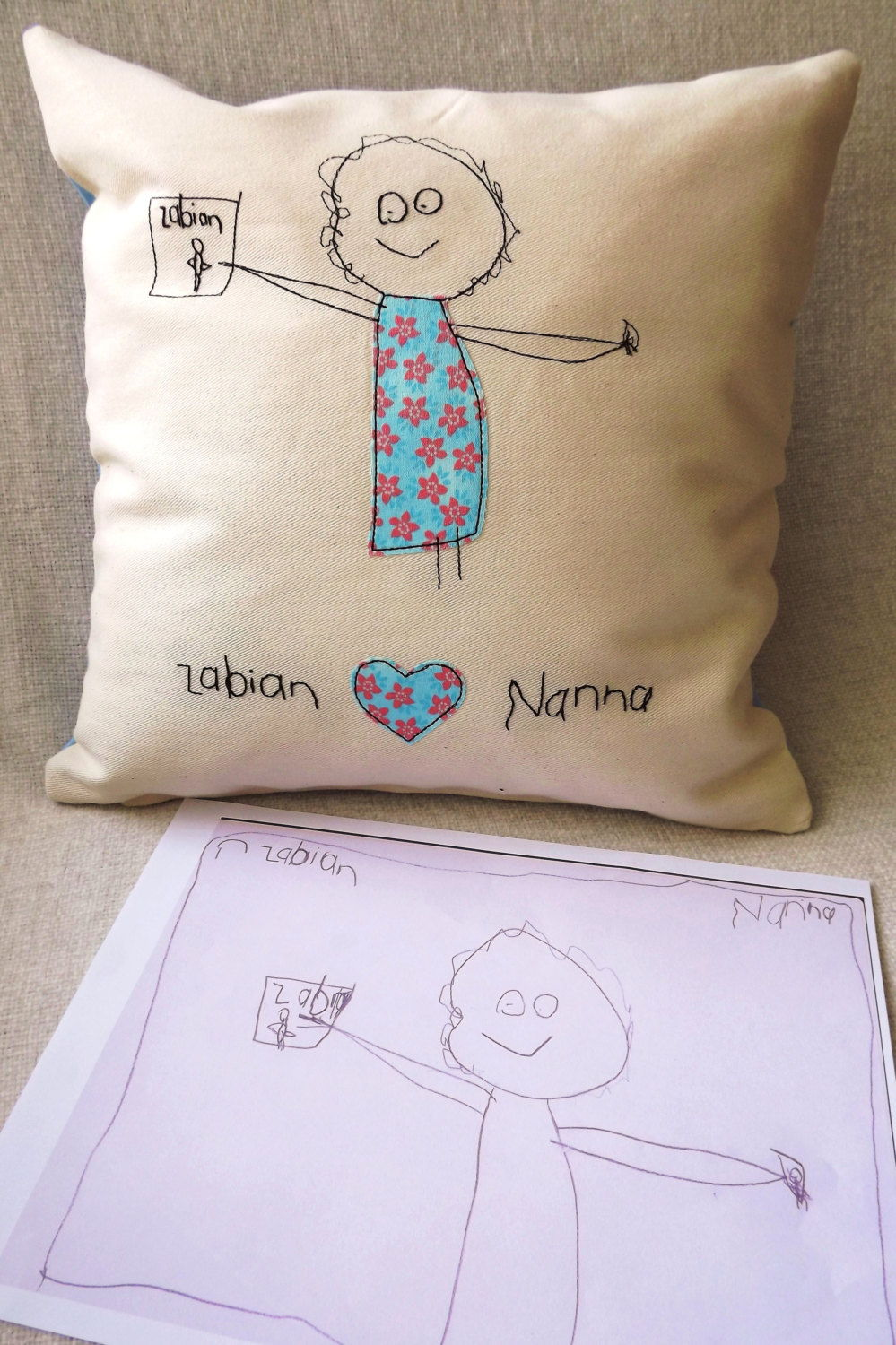 children's art cushion