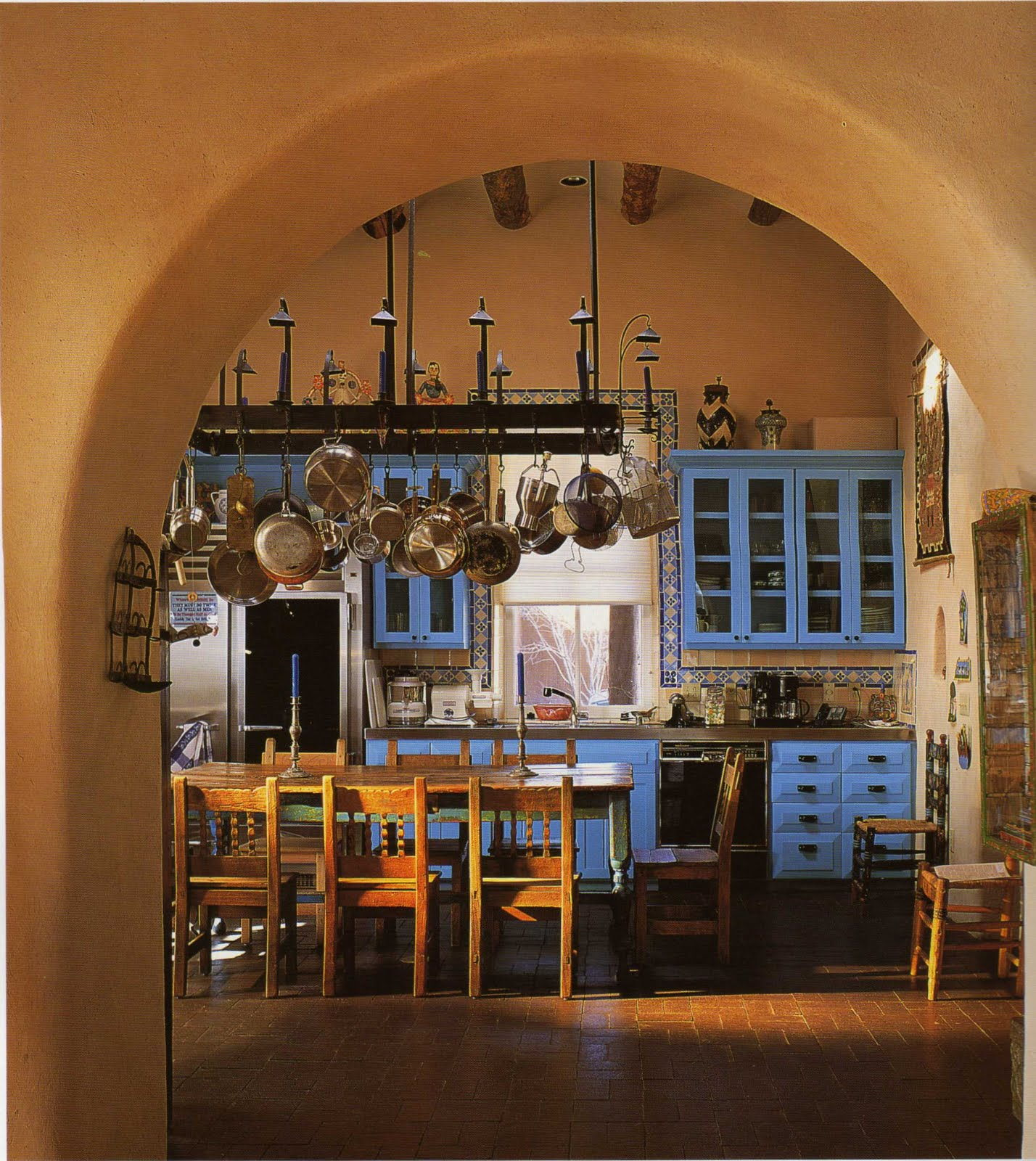 mexican hacienda kitchen