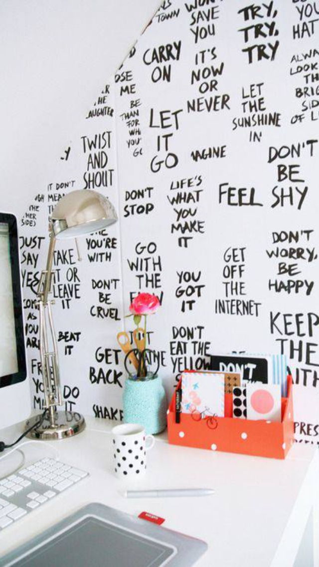 motivational study wall