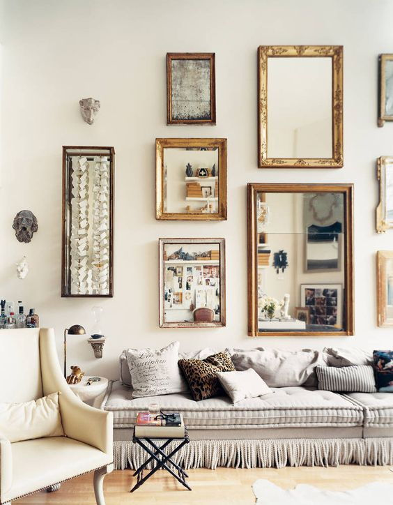 mirror gallery living room