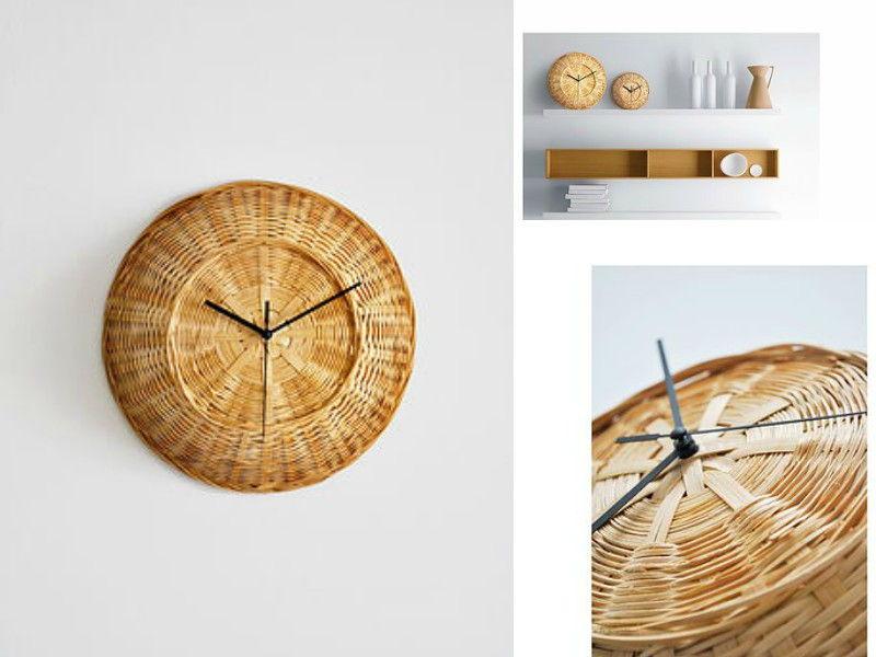 modern woven clock