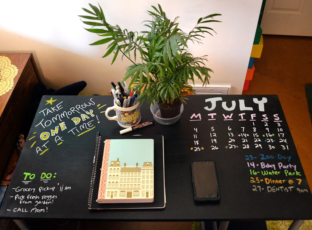 chalkboard paint desk